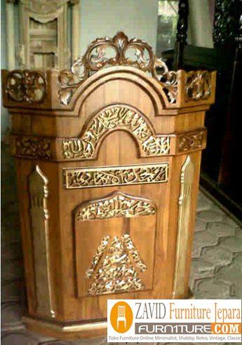 mimbar masjid minimalis ukiran 2 - Jual Mimbar Jati Jepara Ukir-Ukiran Mewah Relief
