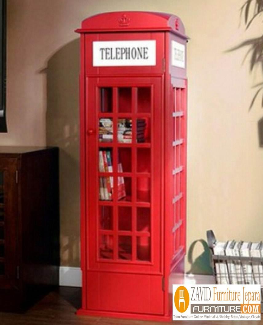 set-lemari-telephone-vintage-terbaru Jual Lemari Telephone London Inggris Vintage, Box Harga Murah