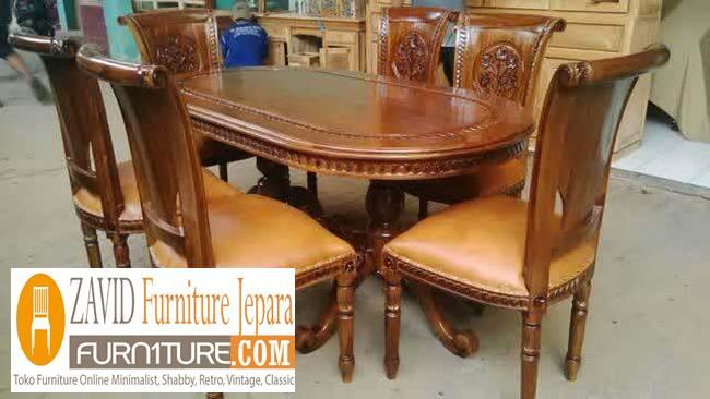 set-meja-kursi-makan-salina-kayu-jati Set Kursi Makan Salina Kayu Jati Terbaru