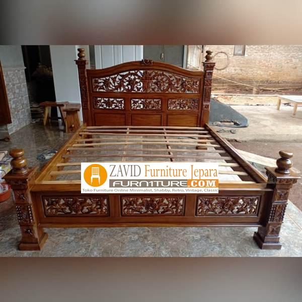tempat-tidur-rahwana Dipan Jati Rahwana Ukiran Mewah Terlaris Harga Murah