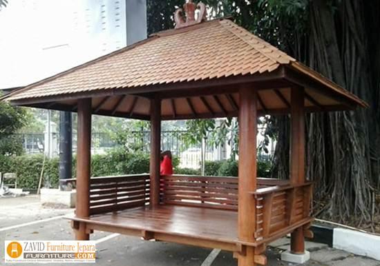 Gazebo Taman Minimalis Modern Murah - Jual Gazebo Kayu Kelapa/ Glugu Model Minimalis Untuk Taman