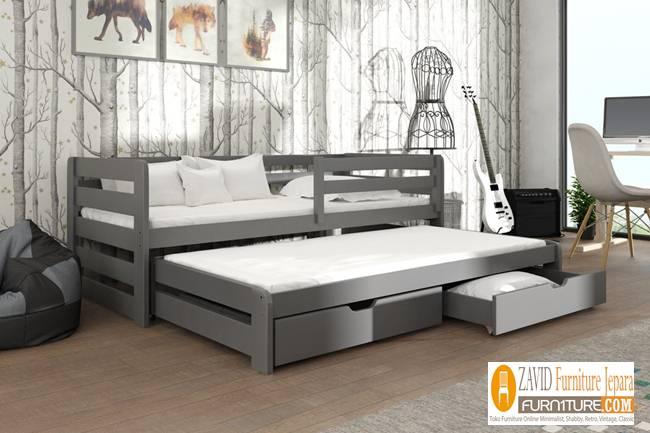 Jual Tempat Tidur Sorong Remaja dengan Laci Minimalis - Jual Tempat Tidur Sorong Remaja dengan Laci Minimalis