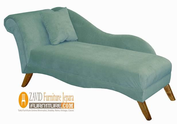 Kursi Sofa Mini Long Kaki Kayu Jati Ruangan Tv - Kursi Sofa Mini Long Kaki Kayu Jati Ruangan Tv