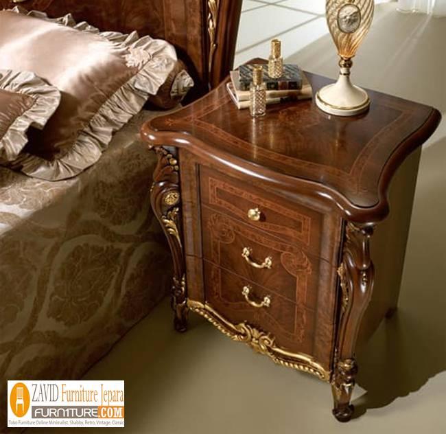 Meja Nakas Jati Mewah Klasik Untuk Kamar - Meja Nakas Jati Mewah Klasik Untuk Kamar