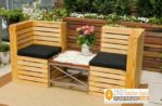 Set Kursi Teras Kayu Jati Londo dengan Busa