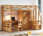 Jual Set Tempat Tidur Tingkat Anak Kayu Jati Terbaru