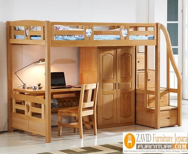 Set tempat tidur tingkat - Jual Set Tempat Tidur Tingkat Anak Kayu Jati Terbaru