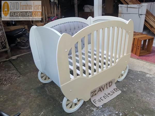 box bayi unik - Box Bayi Unik Bentuk Kereta Simple Bahan Kayu Terbaik