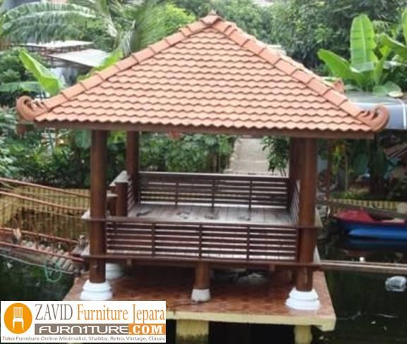 gazebo-atap-sirap Jual Gazebo Taman Atas Sirap Harga Murah