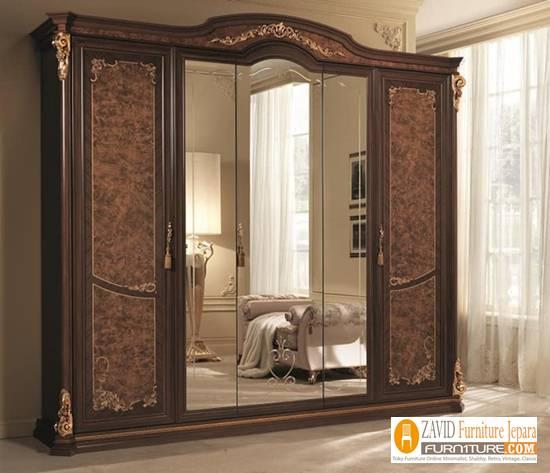 harga-lemari-pakaian-mewah-5-pintu-kayu-jati Harga Lemari Pakaian 5 & 6 Pintu Kayu Jati Solid Mewah