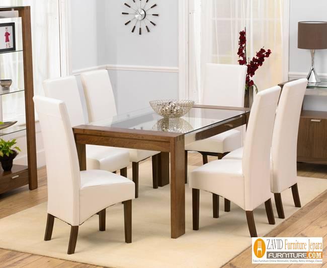 harga-meja-makan-kaca-minimalis Set Meja Makan Kaca Minimalis Sederhana Kayu Jati