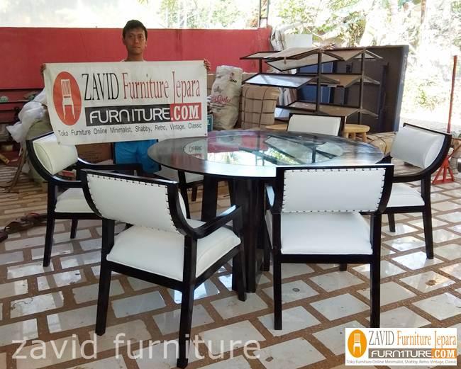 harga-meja-makan-mewah-minimalis-6-kursi Set Meja Makan 6 Kursi Kayu Jati Solid Model Minimalis Mewah