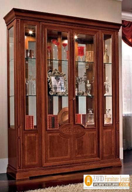 jual-lemari-hias-mewah-4-pintu Lemari Hias 4 Pintu Kaca Mewah Ukiran