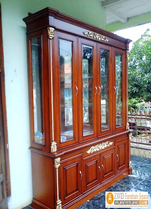 jual-lemari-pakaian-mewah-4-pintu Lemari Hias 4 Pintu Kaca Mewah Ukiran