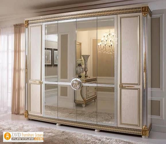 jual-lemari-pakaian-mewah-6-pintu Harga Lemari Pakaian 5 & 6 Pintu Kayu Jati Solid Mewah