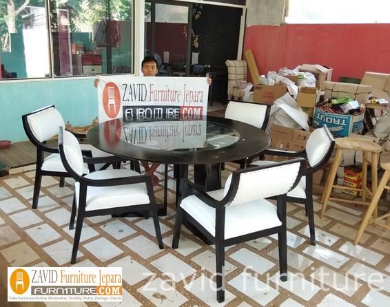 jual-meja-makan-mewah-minimalis-kayu-jati Set Meja Makan 6 Kursi Kayu Jati Solid Model Minimalis Mewah