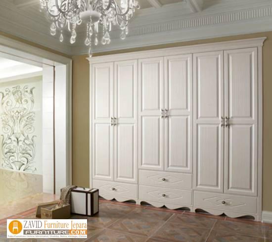 lemari-6-pintu-mewah Harga Lemari Pakaian 5 & 6 Pintu Kayu Jati Solid Mewah