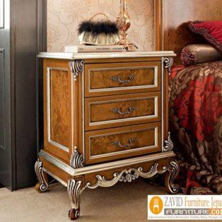 Meja Nakas Jati Mewah Klasik Untuk Kamar