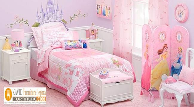 tempat-tdiur-anak-perempuan-dengan-model-proncess Tempat Tidur Anak Perempuan Karakter Princess