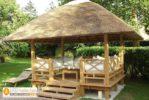 Gazebo Taman Minimalis Atap Ijuk Rangka Kayu Jati