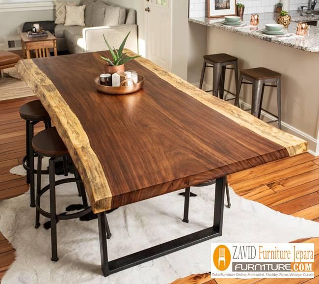 Jual-Meja-Makan-suar-terbaru-kayu Jual Meja Kayu Suar Solid Untuk Makan Harga Murah