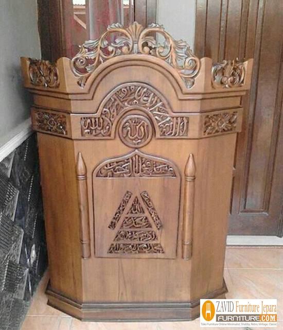 Jual-Podium-Mimbar-minimalis Podium Masjid dan Mimbar Masjid Minimalis, Jual Harga Murah