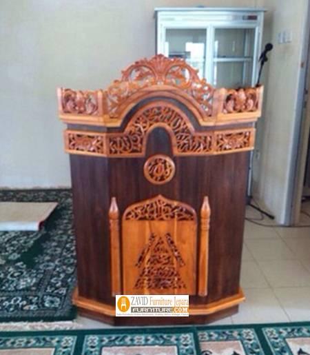Mimbar-ukiran-murah-jepara Podium Masjid dan Mimbar Masjid Minimalis, Jual Harga Murah