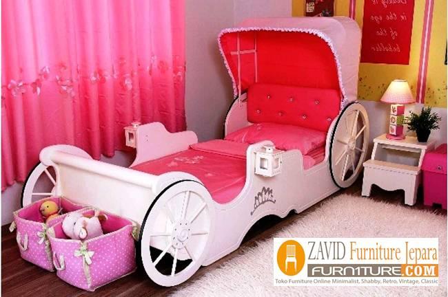 Tempat Tidur Anak Unik Karakter Kereta Kencana Princess - Tempat Tidur Anak Unik Karakter Kereta Kencana Princess