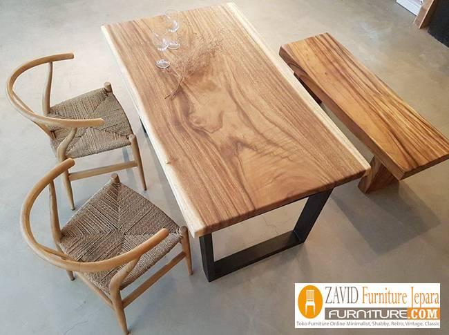 harga-meja-makan-kayu-suar Jual Meja Kayu Suar Solid Untuk Makan Harga Murah