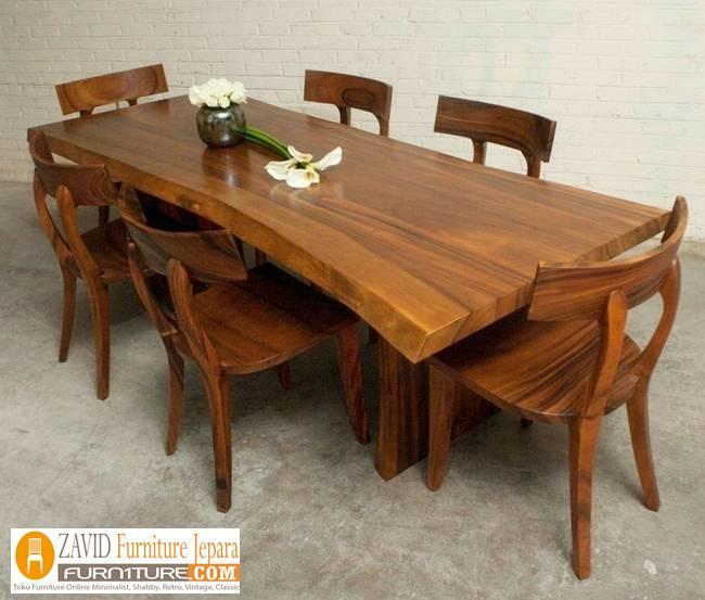 harga-meja-makan-suar Jual Meja Kayu Suar Solid Untuk Makan Harga Murah