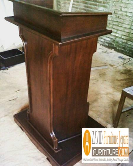 harga-podium-minimalis-kayu-jati Podium Masjid dan Mimbar Masjid Minimalis, Jual Harga Murah