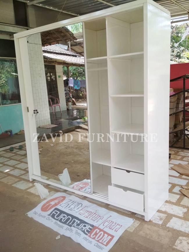 jual-lemari-pakaian-mewah-sliding Lemari Pakaian Tangerang Sliding 2 Pintu dengan Kaca