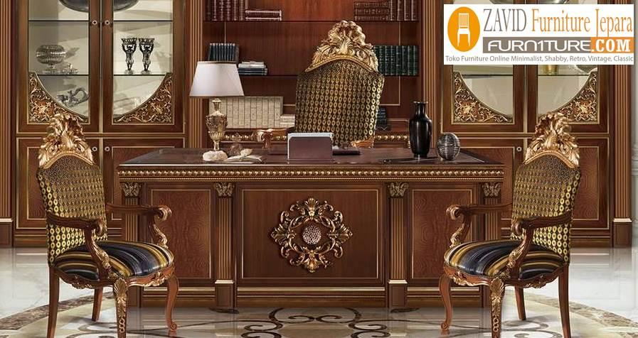 meja-kantor-klasik-mewah Jual Meja Kerja Direktur Di Bali Modern Mewah Klasik