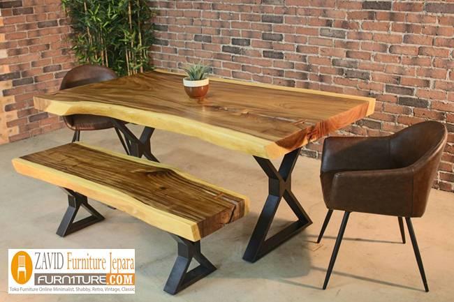 meja-kuyrsi-makan-kayu-suar-terbaru Jual Meja Kayu Suar Solid Untuk Makan Harga Murah