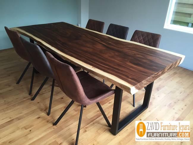 meja-makan-kayu-suar-terbaru Jual Meja Kayu Suar Solid Untuk Makan Harga Murah