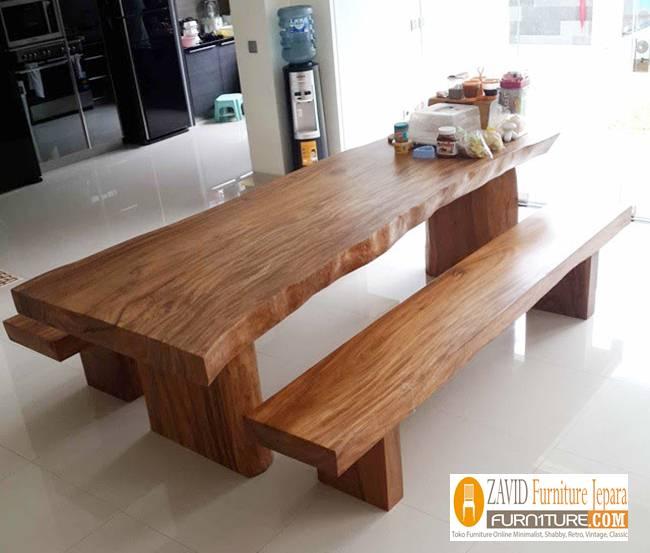 meja-makan-kayu-suar Jual Meja Kayu Suar Solid Untuk Makan Harga Murah