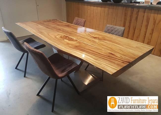 set-meja-makan-kayu-suar Jual Meja Kayu Suar Solid Untuk Makan Harga Murah