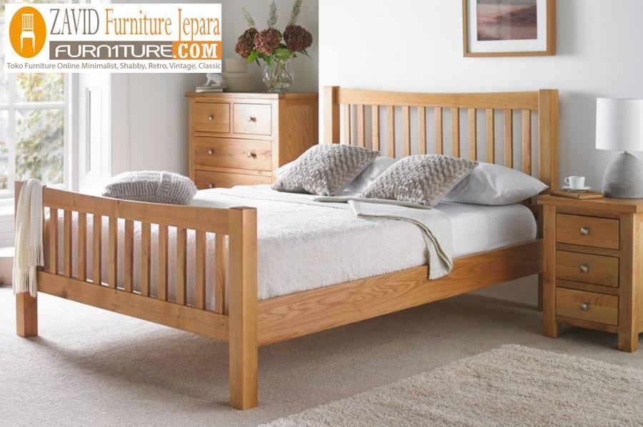 tempat-tidur-minimalis Jual Tempat Tidur Minimalis Kayu Jati Solid Harga Murah