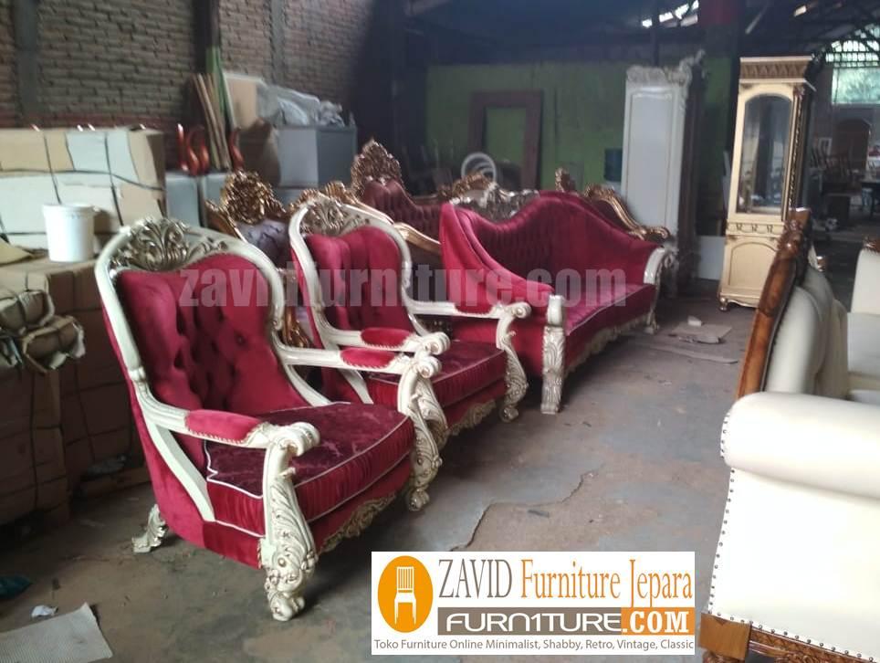 kursi-tamu-mewah Jual Kursi Tamu Jati Mewah Lampung Modern Terbaru