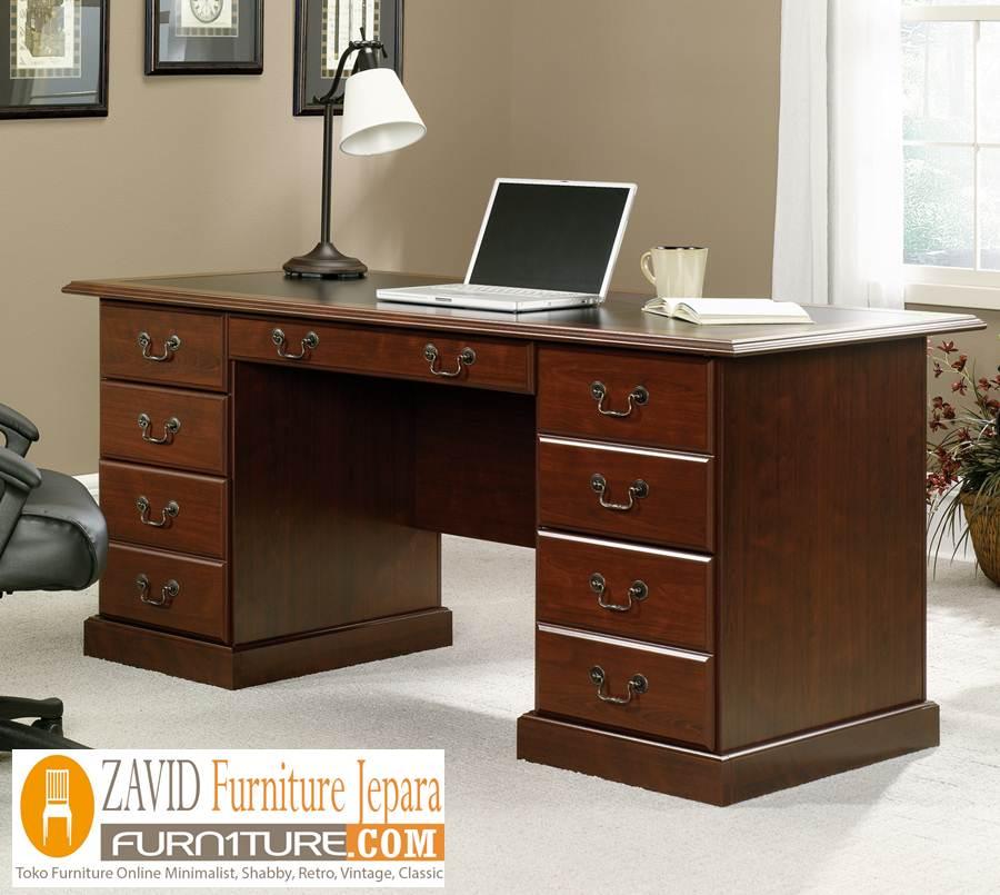 meja kerja minimalis kayu jati - Jual Meja Kantor Malang Direktur Minimalis