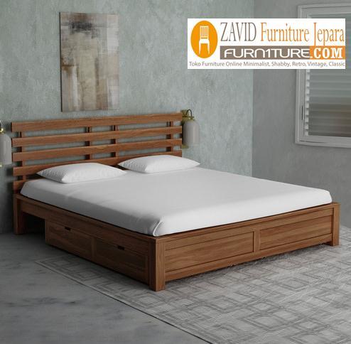 tempat-tidur-laci-samping-minimalis Tempat Tidur Laci Semarang Model Baru Minimalis
