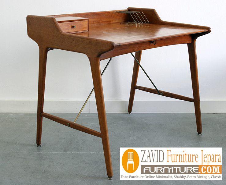 Meja Belajar minimalis kayu jati3 - Jual Meja Belajar Surabaya Minimalis Kayu Jati Model Unik Terbaru