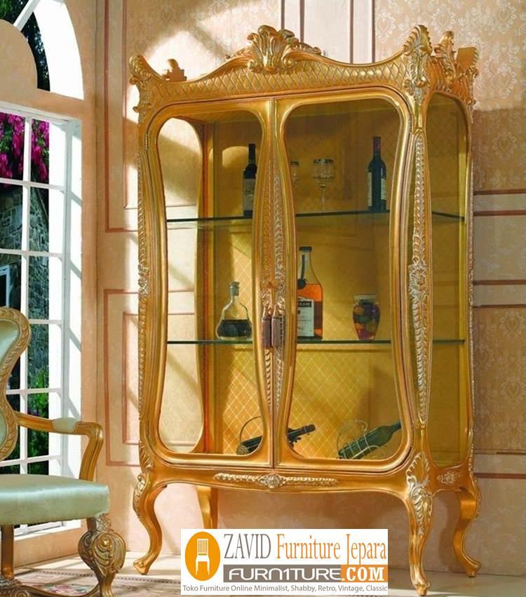 lemari-hias-kaca-mewah Lemari Hias Kaca Semarang Mewah Model Kaki Tinggi