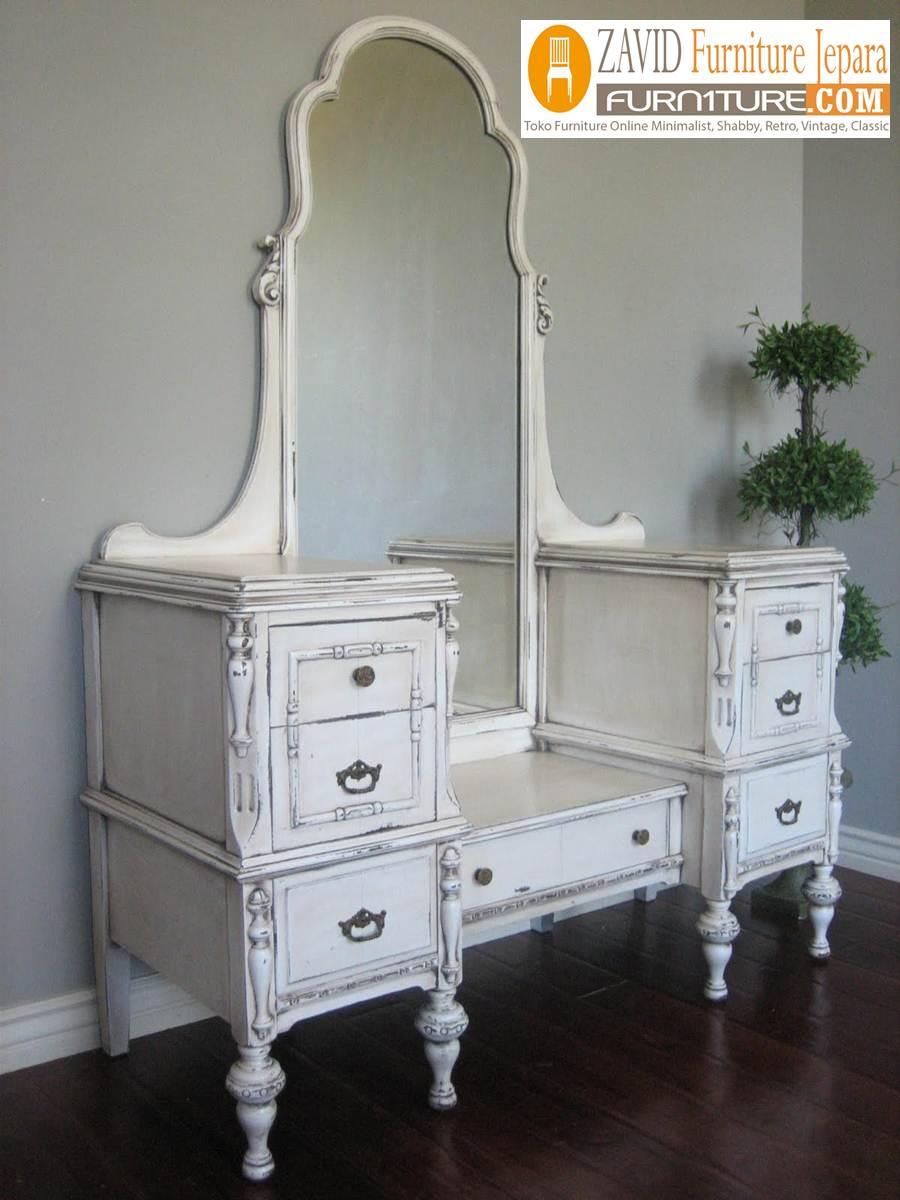 meja-rias-cantik Jual Meja Rias Mewah Cantik Vintage Model Kaca Besar