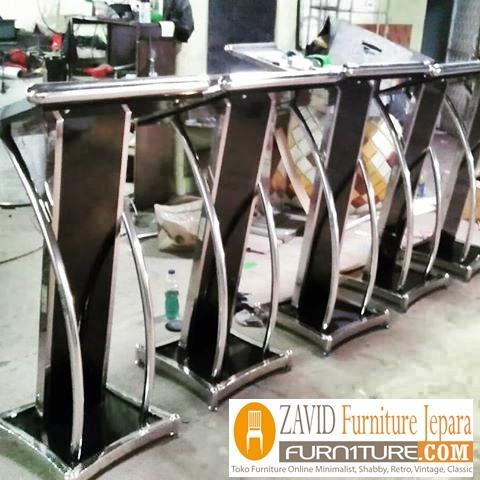mimbar podium stainless - Jual Mimbar Podium Stainless steel Minimalis Modern