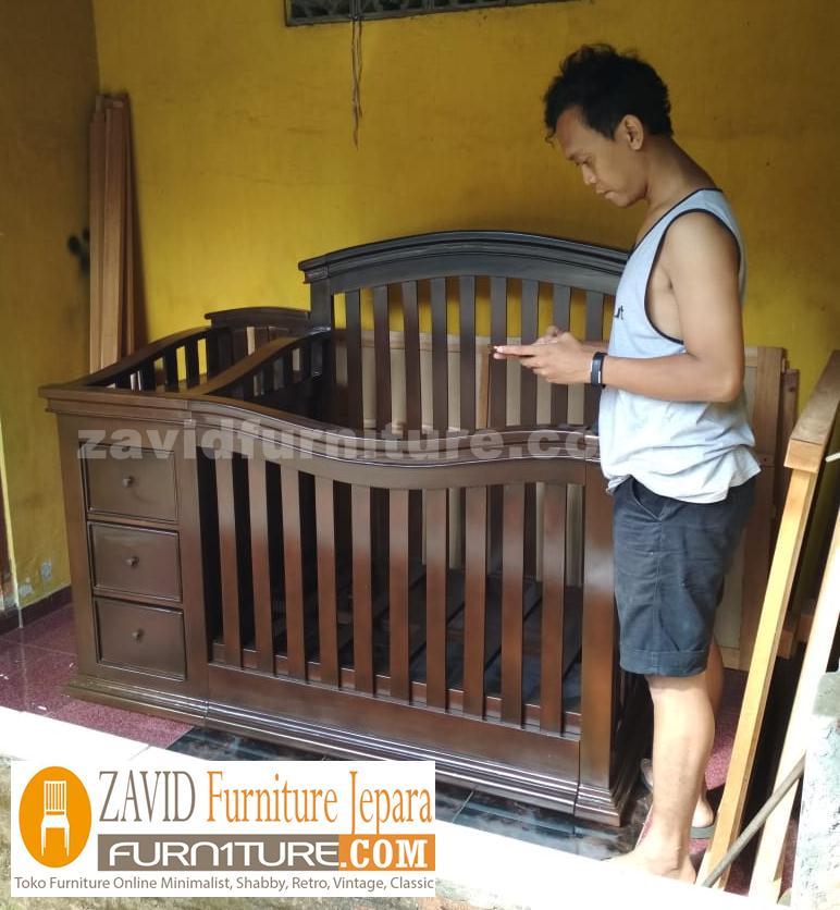 real pict zavidfurniture 2 - Jual Box Bayi Bali Kayu Jati Model 3 Laci Minimalis