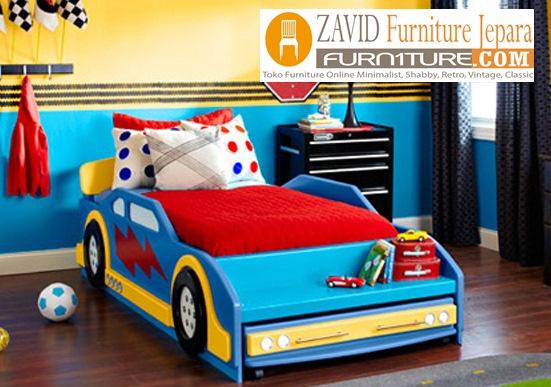 tempat-tidur-anak-karakter Tempat Tidur Anak Laki-Laki Karakter Mobil Minimalis