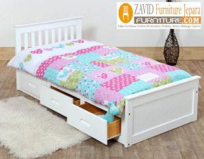 Tempat Tidur Anak Solo 3 Laci Minimalis Duco