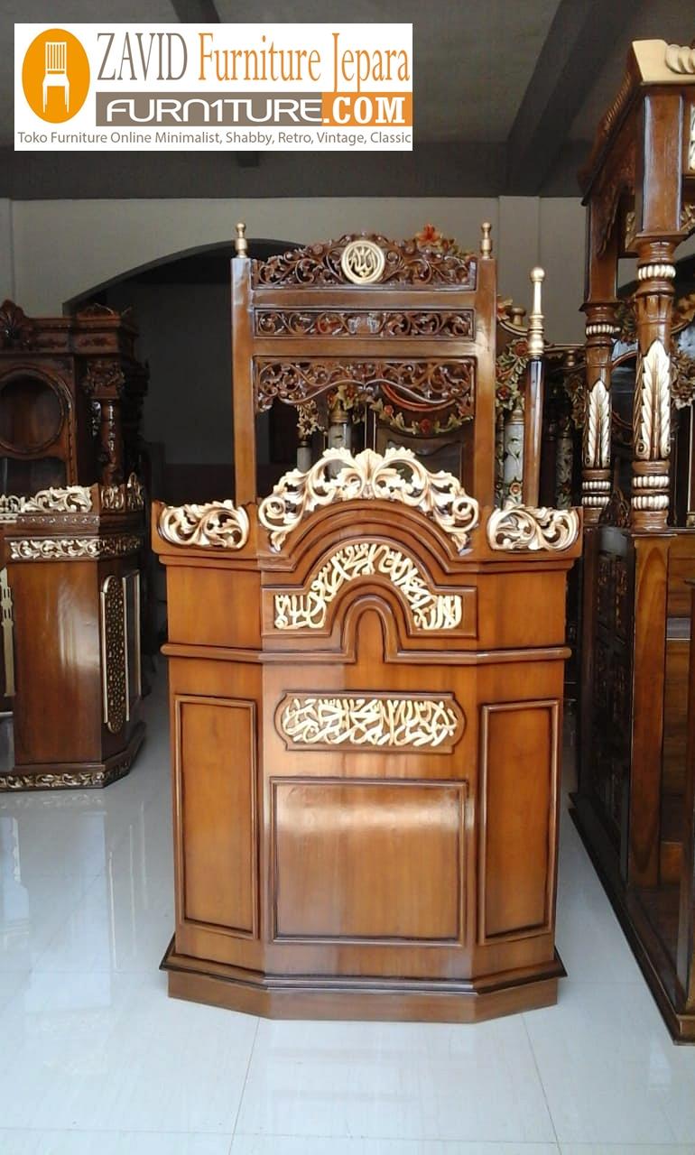 Jual MImbar Masjid Kereta Antik Jati Emas - Jual Mimbar Masjid Kereta Antik Jati Emas