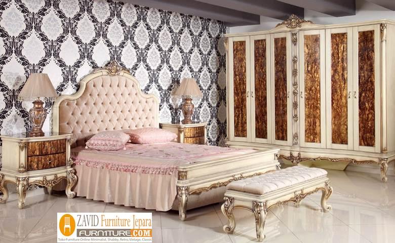 kamar-set-mewah Jual Kamar Set Mewah Semarang Warna Putih Duco Ukiran Artistik Terbaru